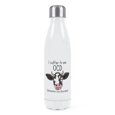 Doppel-wand-wasser (Kuh Ocd Doppelwand Wasserflasche Lustiger Witz Obsessive Kuh Disorder)