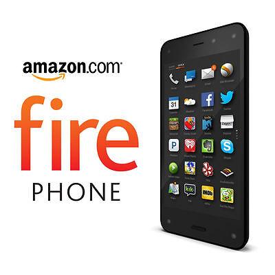 Amazon Fire Phone - 32GB - Black (AT&T Unlocked) Smartphone New