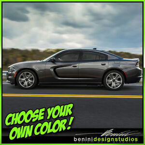 2015 and up dodge charger rt srt sxt scat pack hellcat side scallop graphics 4. Black Bedroom Furniture Sets. Home Design Ideas