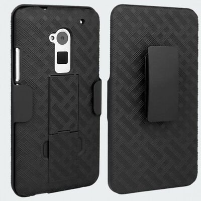 OEM Holster HTC One Max 6600 Case 3-in-1 Combo Includes Protective Case and Belt ()