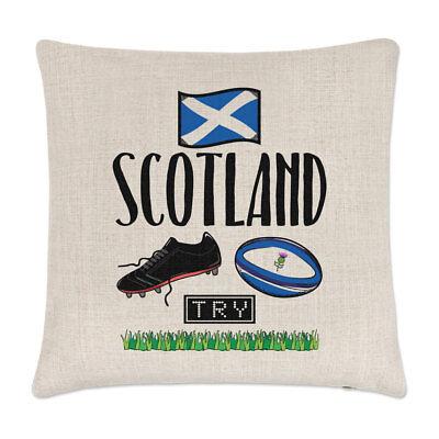 rugby Scozia LINO copricuscino cuscino - Divertente LEGA BANDIERA INGLESE SPORT