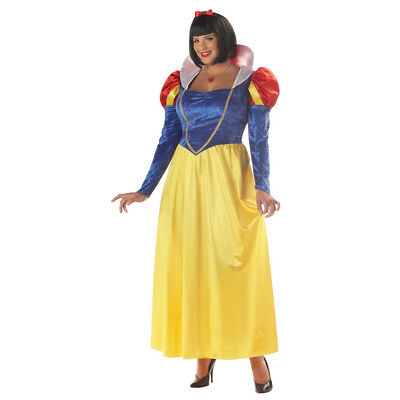 omens Plus Size Costume Disney 7 Dwarfs Princess Adult (Plus Size Snow White Kostüm)