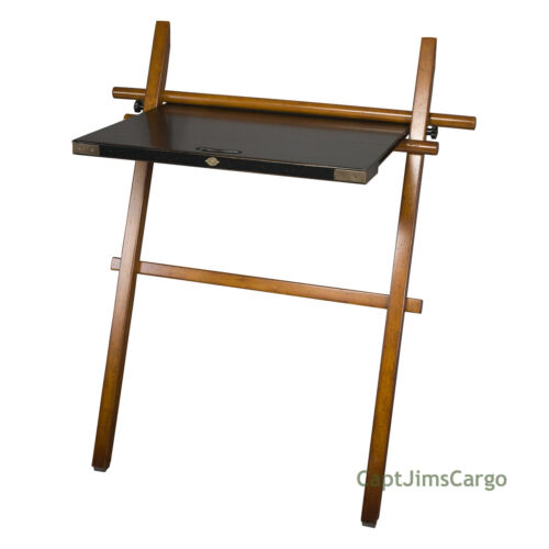 """Campaign Hidden Computer Wall Leaning On The Go Desk 39.5"""" Black & Honey New"""