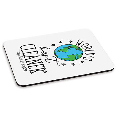 World's Best Cleaner PC Computer Mouse Mat Pad Funny Joke