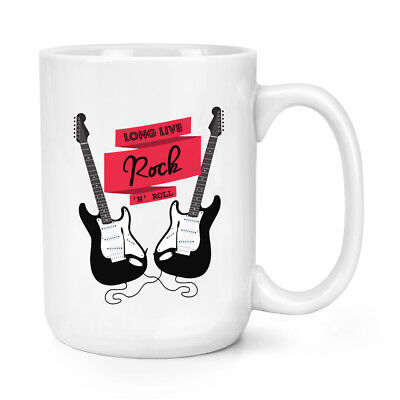 Largo Live Rock&Roll Guitarra Eléctrica 426ml Grande Taza - Música Grande