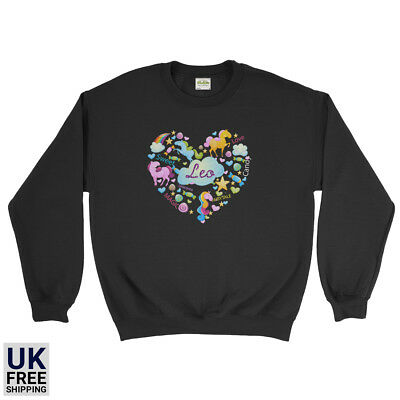 Personalized Name Fairytale Unicorn Lovely New Kids Sweatshirt](Male Fairy Tale Names)