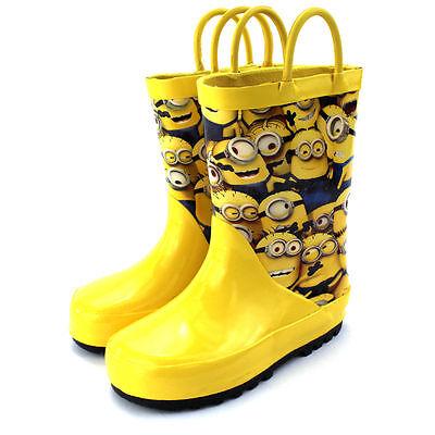 Despicable Me Minion Rain boots Wellies Wellington 7/8 9/10 11/12 13/1 2/3  NEW