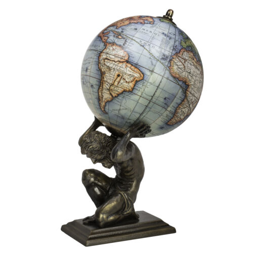 "Atlas & Classic Vaugondy French World Globe 13.5"" Nautical Tabletop Decor New"