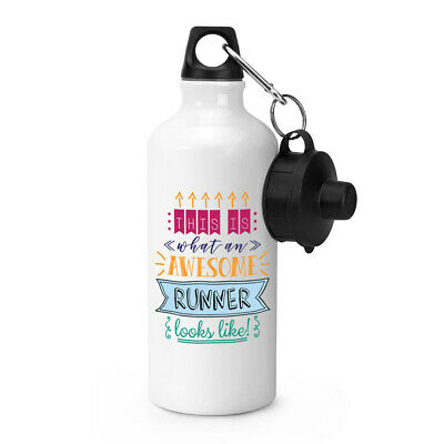 This Is What An Awesome Runner Looks Like Sports Water Bottle Funny Best