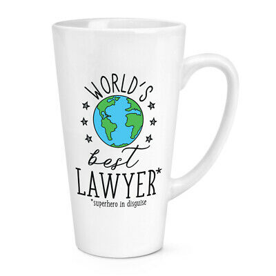 World's Mejor Abojado 483ml Grande Latte Taza Chiste Divertido Favourite Abogado