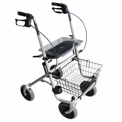 Mobile Korb (Rollator mit Bremse Trendmobil faltbar mit Korb und Tablett Belastbar 120kg)