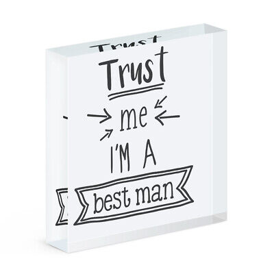 Trust Me I'M A Padrino Acrílico Foto Bloque Marco Divertido Boda Broma