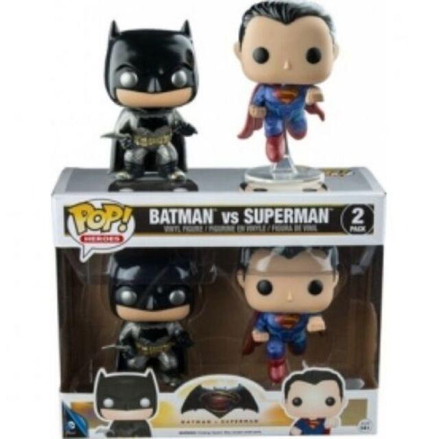 "FUNKO BATMAN VS SUPERMAN 2 PACK METALLIC 4""/10CM FIGURE"