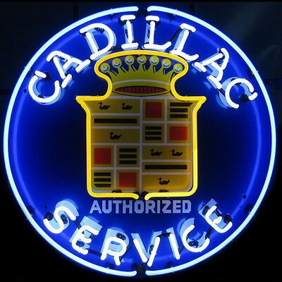 Cadillac Service Neon Sign 5CADSR with Silkscreen Backing & FREE Shipping