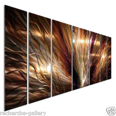Abstract Metal Wall Art Large ZION by Artist Ash Carl Modern Home Decor