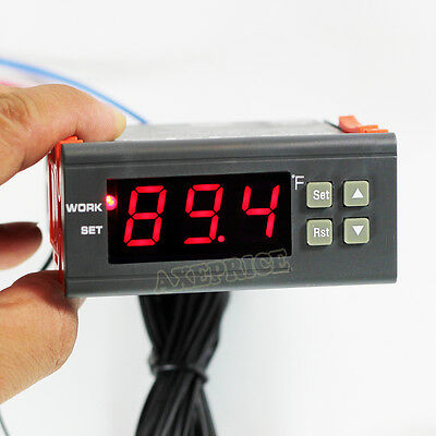 Dc 12v Digital F Fahrenheit Temperature Controller Greenhouse Thermostat Control