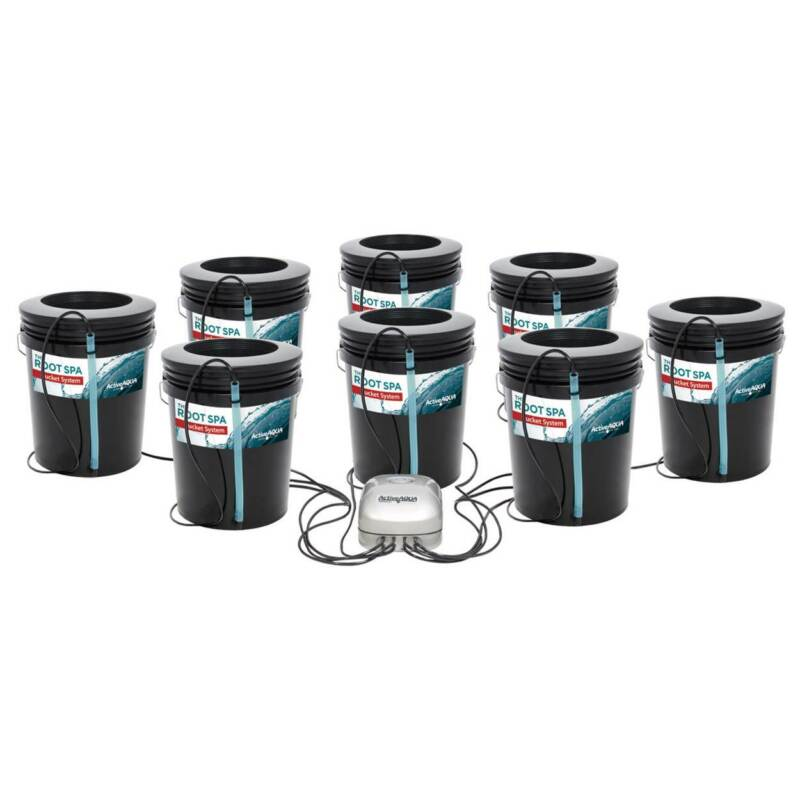 Active Aqua RS5GAL8SYS Root Spa 5-Gallon 8-Bucket Deep Water Culture System
