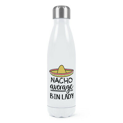 Nacho Media Papelera Mujer Doble Pared Agua Botella Worlds Best Genial Divertido