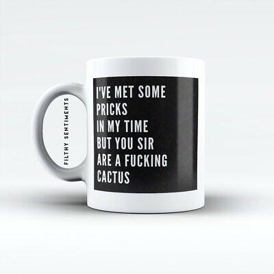 Rude Cactus Prick Mug - Novelty Rude Innuendo Mug