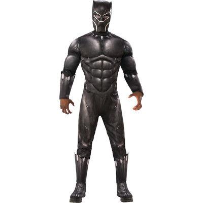 Rubie's Men's Marvel Deluxe Black Panther Muscle Chest Costume (Black Panther Costume For Men)