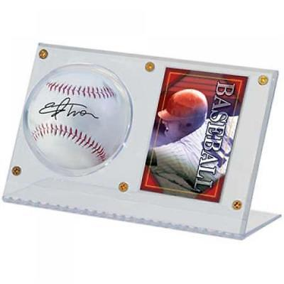 Used, ULTRA PRO BASEBALL AND CARD ACRYLIC HOLDER sports collectible cases-NEW for sale  Shipping to Nigeria