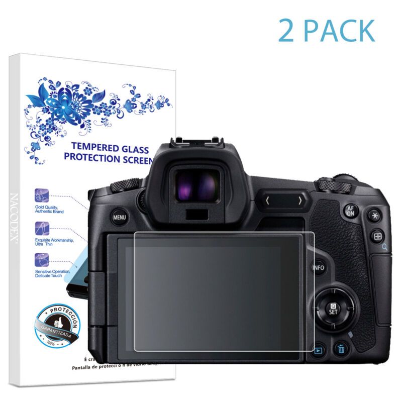 2-Pack For Canon EOS R Tempered Glass Screen Protector