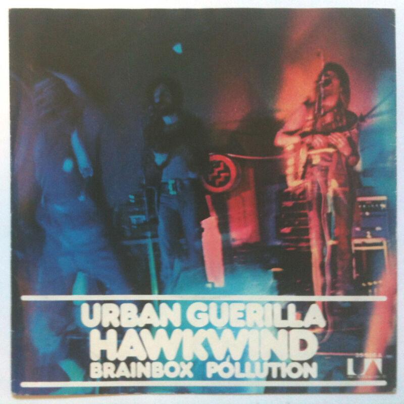 "HAWKWIND, Urban Guerilla 7"" _ORIGINAL 1973_ GERMAN UNIQUE SLV! (Motorhead Lemmy)"