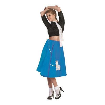 Blau Pudel Rock 50's Schal Socke Hop 1950's - 50 Pudel Rock