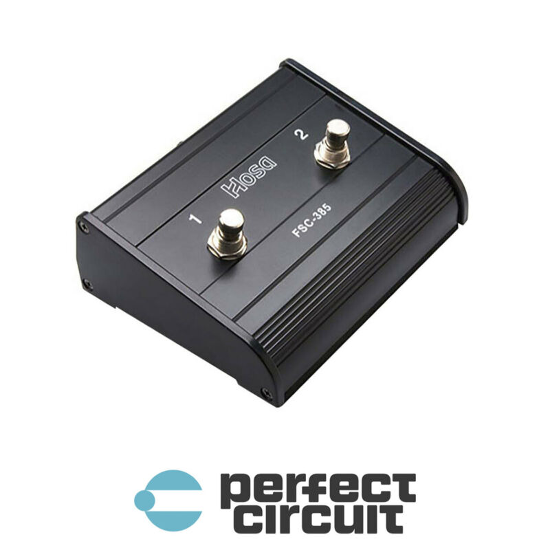 Hosa FSC-385 Guitar Style Dual Latching FOOTSWITCH - NEW - PERFECT CIRCUIT