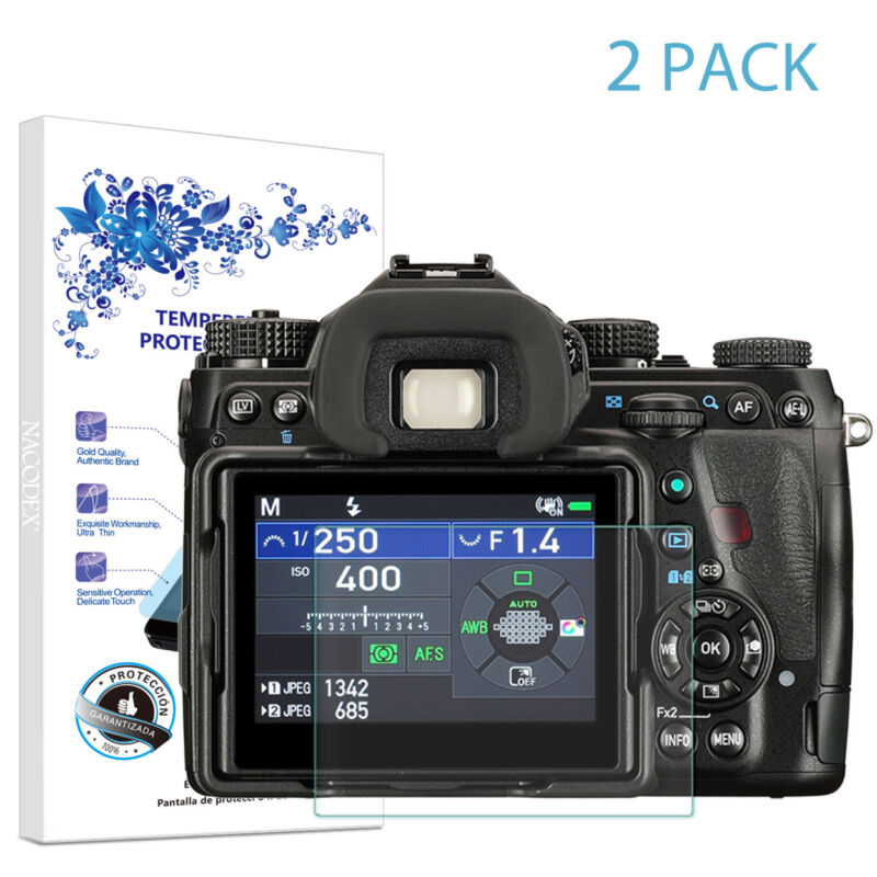 2-Pack For PENTAX K-1 Mark II Tempered Glass Screen Protector