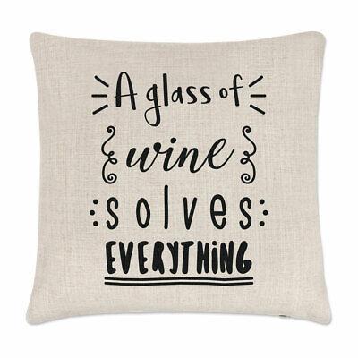 Ein Glas Von Wein Löst Alles Kissenbezug Scherz Weiß Prosecco Lustig