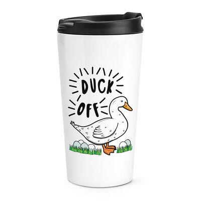 Duck Off Travel Mug Cup Funny Rude Joke Animal Pet Thermal Tumbler Ducks Stainless Steel Travel Mug