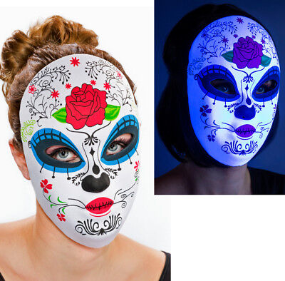 Tag der Toten Maske mit Rose Dame Day of the Dead Mexiko (Der Tag Der Toten Maske)