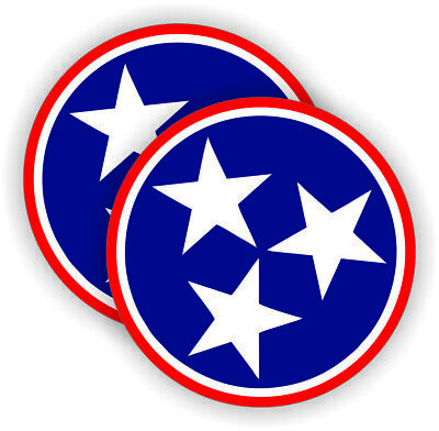 Tennessee Flag Hard Hat Motorcycle Welding Helmet Stickers Decals Labels 2in