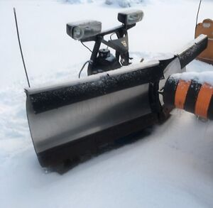 FISHER EXTREME V STAINLESS SNOW PLOW 9'6""