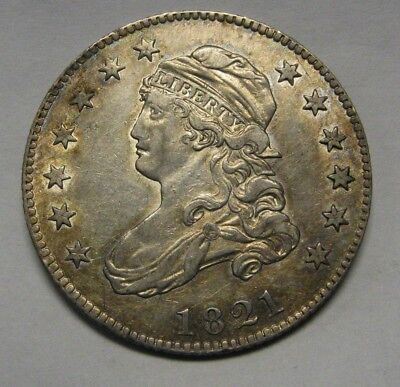 1821 Capped Bust Silver Quarter Grading CH AU Browning 4 Gorgeous Original Coin