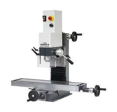 WABECO Fresadora Y Máquina Taladro F1210 1,4 Kw Mesa de Trabajo 700x180mm 11400