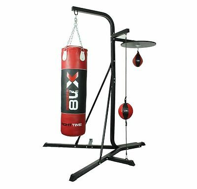 Free Standing 3 way Punch Bag Stand Frame MMA Boxing Speed Balls Platform
