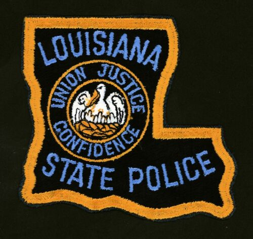 Vintage LOUISIANA STATE POLICE (4 X 3.5 INCH) Police Patch