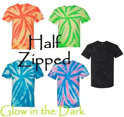 Glow In The Dark Ties (Dyenomite Glow in the Dark T-Shirt Pinwheel Tie Dye 200GW)