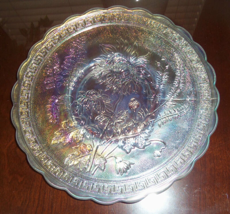 "SALE! IMPERIAL 10"" STIPPLED CHOP PLATE! CHRYSTHANEMUM ""IG""~MINT* BUY NOW!"