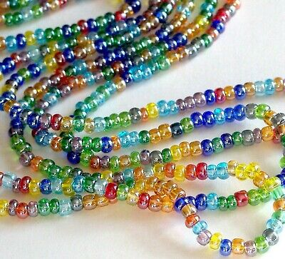 Shimmering Bead Mix, 6/0 Transp AB Luster Czech Seed Bead Mix, Preciosa 4mm NEW!