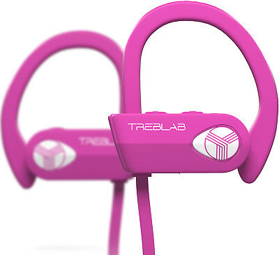 TREBLAB XR500 Bluetooth Headphones Sports Wireless Earbuds With Mic Pink, used for sale  Shipping to India
