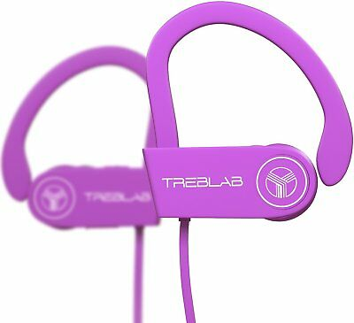 TREBLAB XR100 Pink Bluetooth Headphones Sports Wireless Earbuds with Mic for sale  Shipping to India