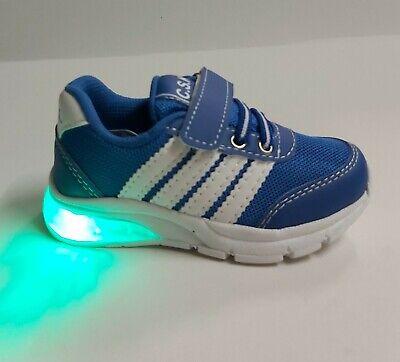 scarpe da bambino per bimbi CON LUCI LED LUMINOSE sportive ginnastica a strappo