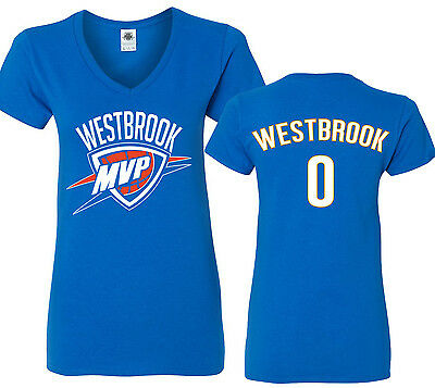 Russell Westbrook Mvp  Oklahoma City Thunder Basketball Womens V Neck T Shirt