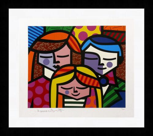 "Romero Britto ""family"" 1996 | Signed Print | Pop Art Miami | Framed | Gallart"