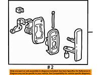 FORD OEM 92-02 E-350 Econoline Club Wagon Side Sliding Door-Cable F2UZ15264A65A