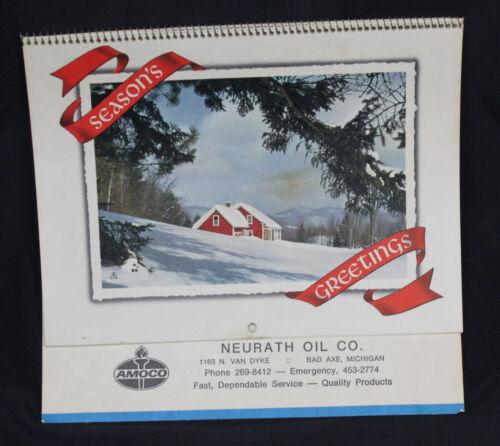 Vtg Amoco Neurath Oil Co Calendar 1978 Advertising Bad Axe Michigan Thumb Spiral