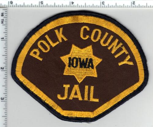 Polk County Jail (Iowa) Uniform Take-Off Shoulder Patch from the 1980